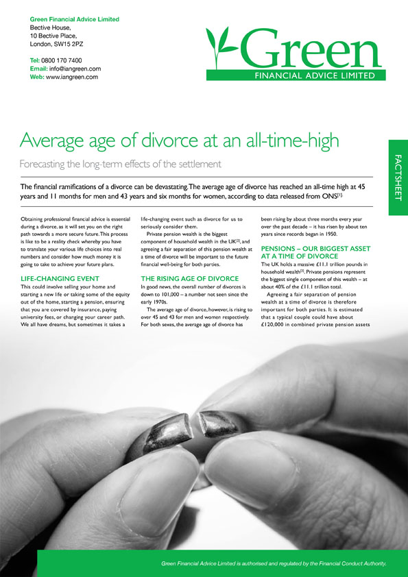 Financial Factsheets | Green Financial Advice